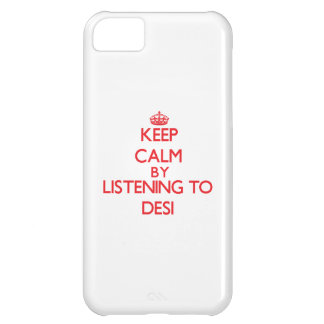 Keep calm by listening to DESI Case For iPhone 5C