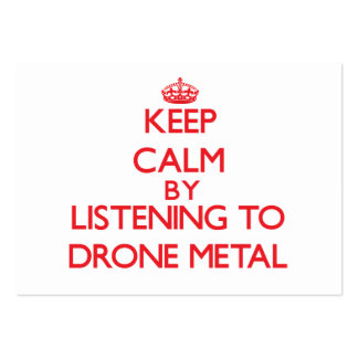 Keep calm by listening to DRONE METAL Business Card