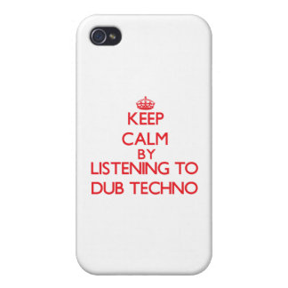 Keep calm by listening to DUB TECHNO iPhone 4/4S Cover