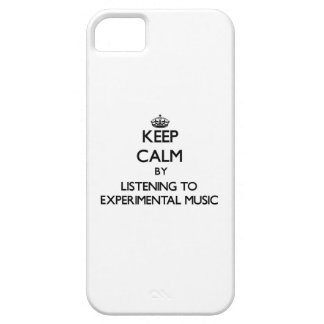 Keep calm by listening to EXPERIMENTAL MUSIC iPhone 5 Cover