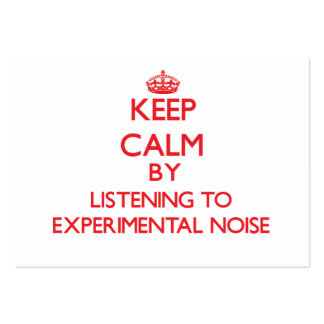 Keep calm by listening to EXPERIMENTAL NOISE Business Card