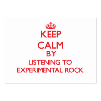 Keep calm by listening to EXPERIMENTAL ROCK Business Card Template