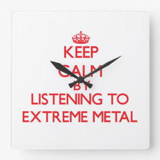 Keep calm by listening to EXTREME METAL Wallclocks