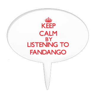 Keep calm by listening to FANDANGO Cake Topper