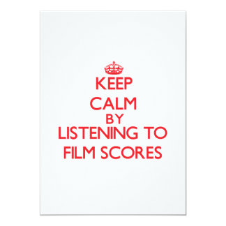 Keep calm by listening to FILM SCORES Custom Announcement