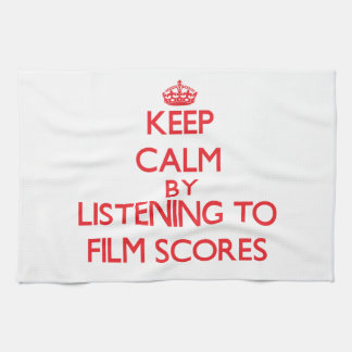 Keep calm by listening to FILM SCORES Kitchen Towel