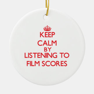 Keep calm by listening to FILM SCORES Christmas Tree Ornaments