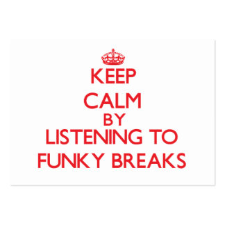 Keep calm by listening to FUNKY BREAKS Business Card Template