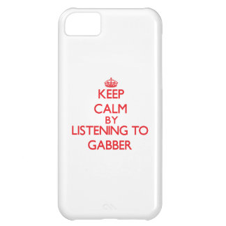 Keep calm by listening to GABBER iPhone 5C Cover