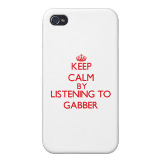 Keep calm by listening to GABBER Cover For iPhone 4