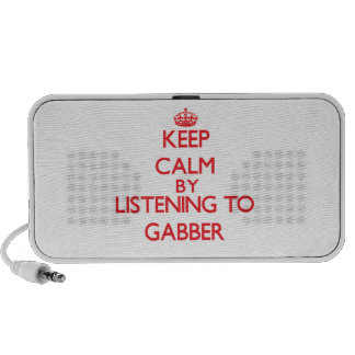 Keep calm by listening to GABBER Portable Speakers