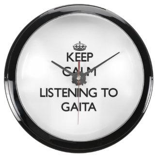 Keep calm by listening to GAITA Aqua Clocks