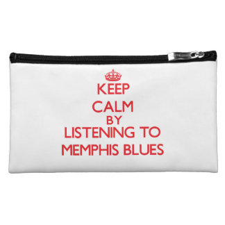 Keep calm by listening to MEMPHIS BLUES Cosmetic Bags