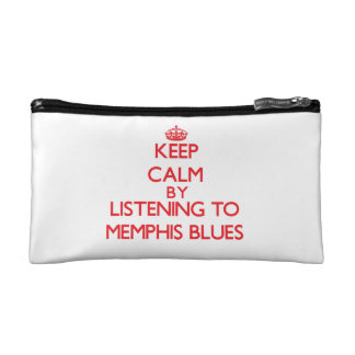 Keep calm by listening to MEMPHIS BLUES Cosmetics Bags