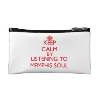 Keep calm by listening to MEMPHIS SOUL Makeup Bags