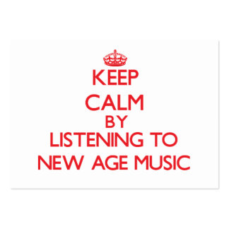 Keep calm by listening to NEW AGE MUSIC Business Cards
