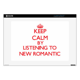"Keep calm by listening to NEW ROMANTIC 15"" Laptop Decal"