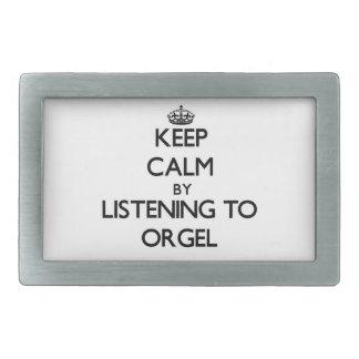 Keep calm by listening to ORGEL Rectangular Belt Buckles