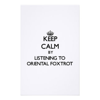 Keep calm by listening to ORIENTAL FOXTROT Personalized Stationery