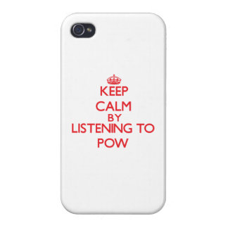 Keep calm by listening to POW Case For iPhone 4