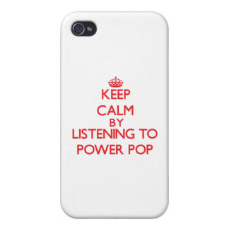 Keep calm by listening to POWER POP iPhone 4/4S Cover