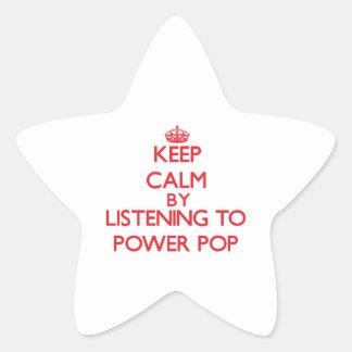 Keep calm by listening to POWER POP Sticker