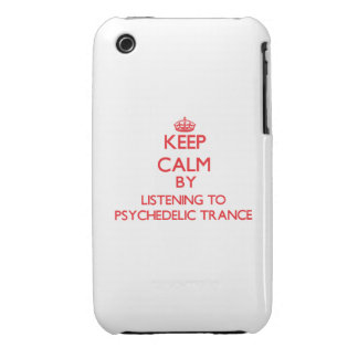 Keep calm by listening to PSYCHEDELIC TRANCE iPhone 3 Covers