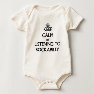 Keep calm by listening to ROCKABILLY Baby Bodysuit