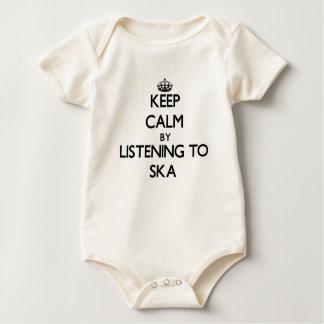 Keep calm by listening to SKA Baby Bodysuit