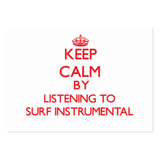 Keep calm by listening to SURF INSTRUMENTAL Business Card Templates