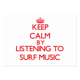 Keep calm by listening to SURF MUSIC Business Card Templates
