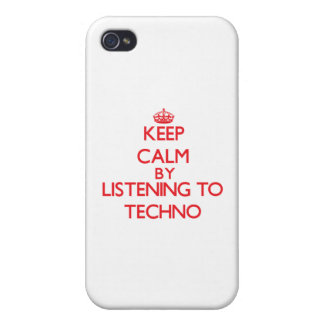 Keep calm by listening to TECHNO iPhone 4 Case