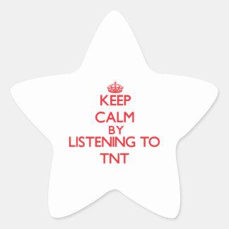 Keep calm by listening to TNT Star Sticker