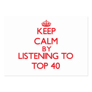 Keep calm by listening to TOP 40 Large Business Cards (Pack Of 100)