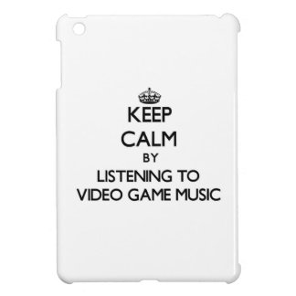 Keep calm by listening to VIDEO GAME MUSIC iPad Mini Cases