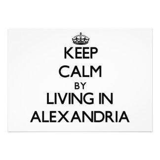 Keep Calm by Living in Alexandria Card