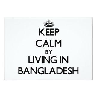 Keep Calm by Living in Bangladesh Custom Announcement