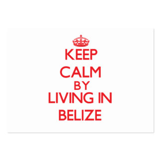 Keep Calm by living in Belize Business Cards