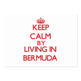 Keep Calm by living in Bermuda Business Card Templates
