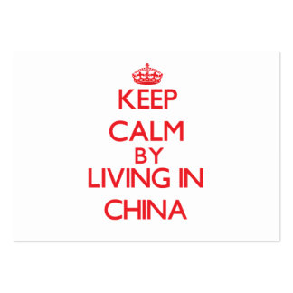 Keep Calm by living in China Business Card