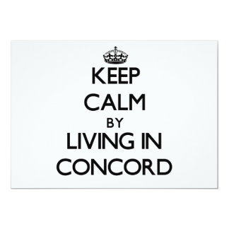 "Keep Calm by Living in Concord 5"" X 7"" Invitation Card"