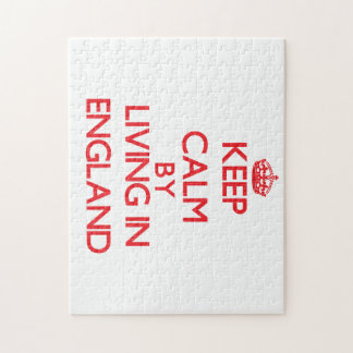 Keep Calm by living in England Jigsaw Puzzles
