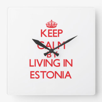 Keep Calm by living in Estonia Wall Clocks