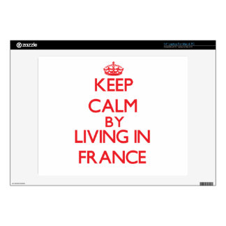 Keep Calm by living in France Decals For Laptops