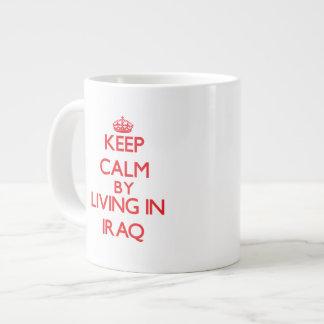 Keep Calm by living in Iraq Jumbo Mug