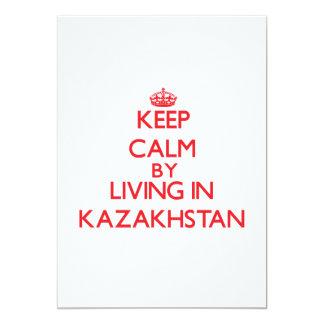 "Keep Calm by living in Kazakhstan 5"" X 7"" Invitation Card"