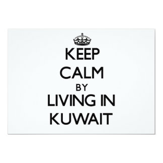 Keep Calm by Living in Kuwait 5x7 Paper Invitation Card