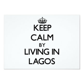 """Keep Calm by Living in Lagos 5"""" X 7"""" Invitation Card"""
