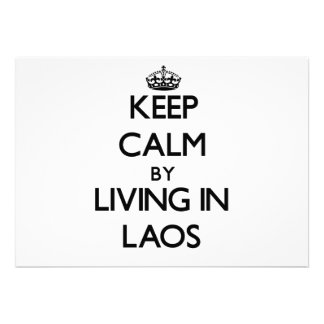 Keep Calm by Living in Laos Invitation
