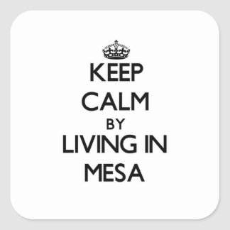 Keep Calm by Living in Mesa Square Sticker